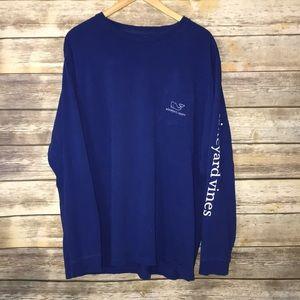 VINEYARD VINES Cobalt Blue long sleeved shirt XXL